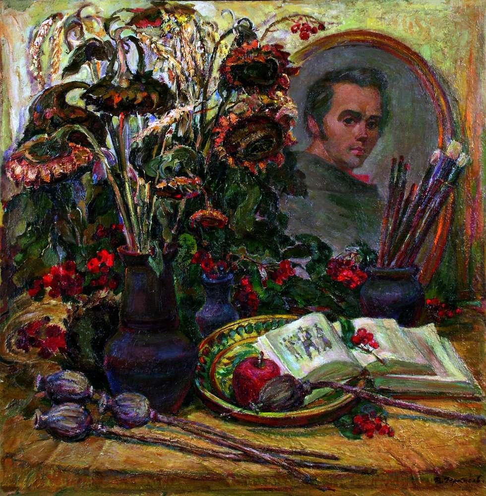 natyurmort-z-portretom-t-g-shevchenka-1995-p-o-86h85