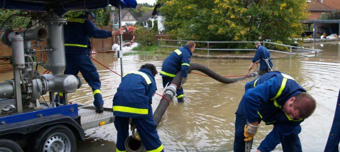 THW Kräfte des Ortsverbandes Hannover/Langenhagen nach Hochwasser im Einsatz