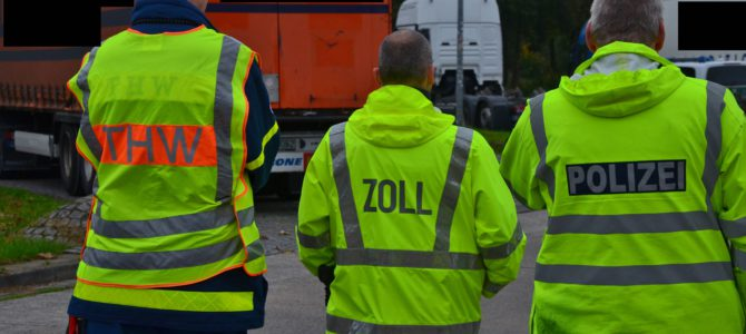 THW Hannover/Langenhagen unterstützt den Zoll