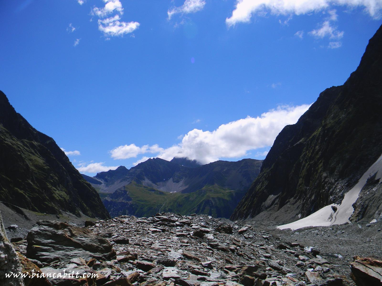 Începe Glacier du Miage.