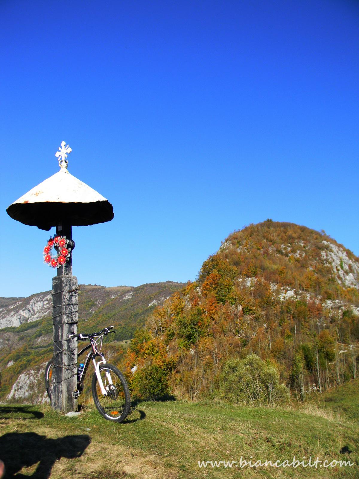 Troița din deal, de unde avem parte de o panoramă frumoasă asupra văii Arieșului.