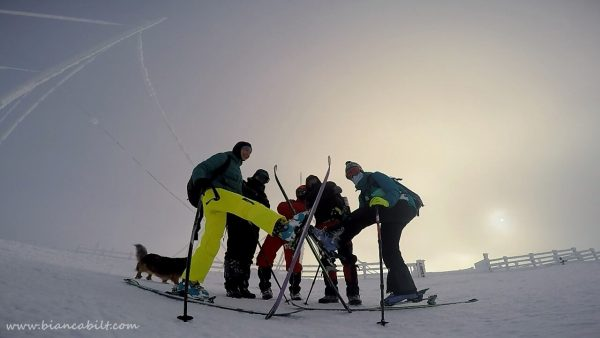 Poza de grup: Andreea fosforescenta, Mircea, Vlad, Alex și eu.