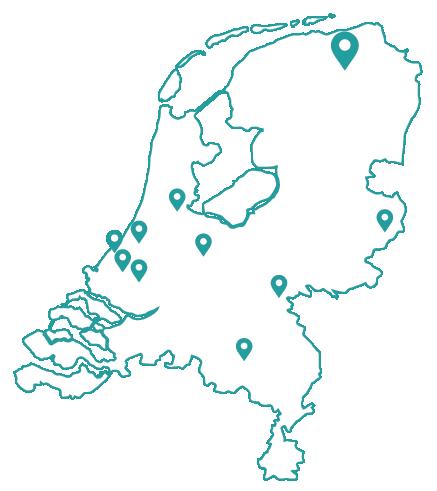 Kaart bijles groningen