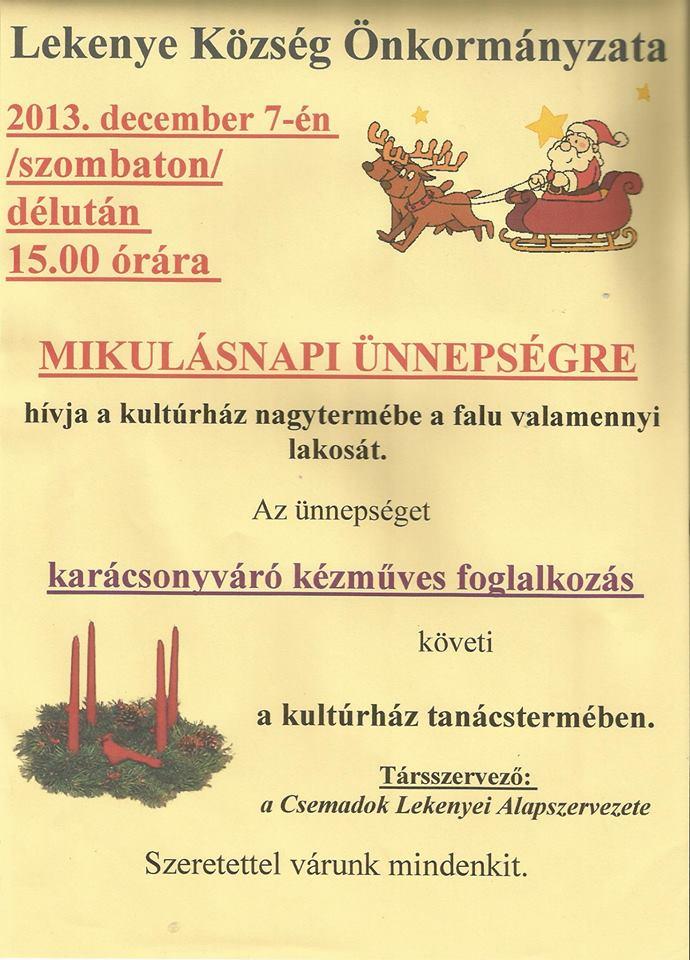 mikulás ünnepség