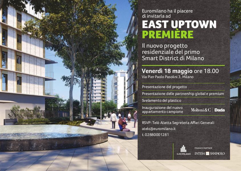 Uptown Premiere Il 18 19 20 Maggio Il Via Alle Vendite Del Nuovo