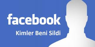 Kimler Beni Sildi - Facebook Uygulaması