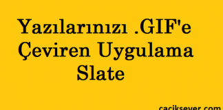 Yazıdan .GIF'e Çevirme