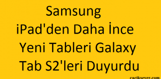 Samsung iPad'den Daha İnce Yeni Tableri Galaxy Tab S2'leri Duyurdu