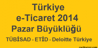 Türkiye e-Ticaret 2014 Pazar Büyüklüğü