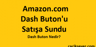Amazon.com Dash Buton'u Satışa Sundu