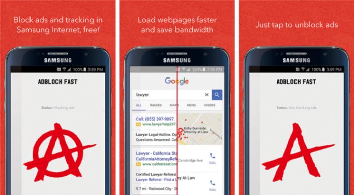 Samsung Android Cihazlar İçin Reklam Engelleme Kullanılabilecek