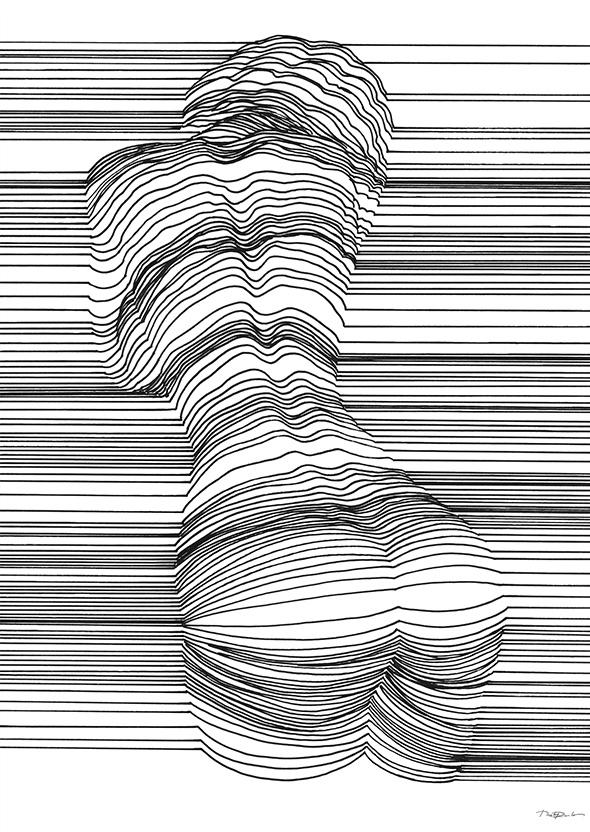 Одной линией узор нарисовать