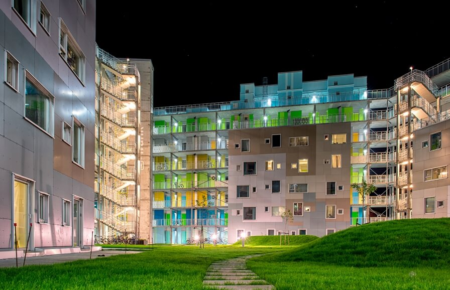 Student housing at Grønneviksøren is nominated for The Bergen municipality architecture award!