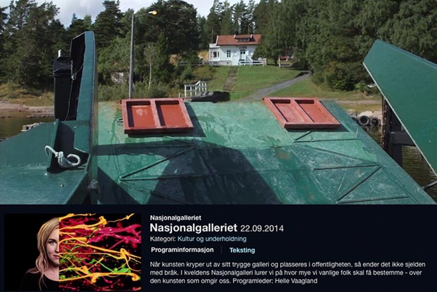 3RW's proposal for memorial on Utøya featured on Nasjonalgalleriet, NRK!
