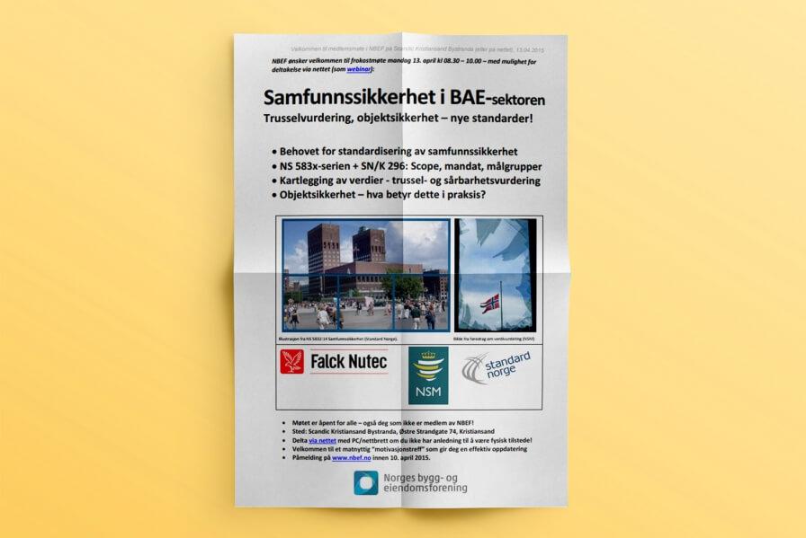 Haakon Rasmussen represents Arkitektbedriftene i Norge for new norwegian standard