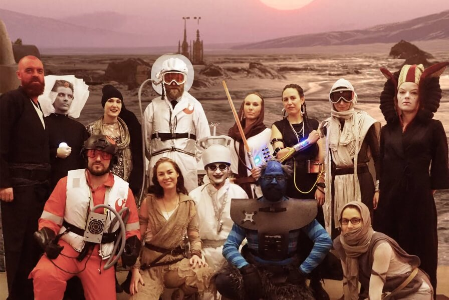 3RW crew is ready for the Mos Eisley Cantina party at 3RW