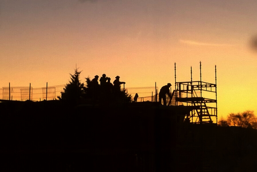 Straumehagen housing project is growing day and night.