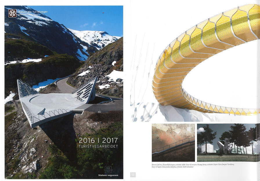 Our project Jøl Bridge is featured in this year's 'Turistvegarbeidet' – the National Norwegian Tourist Route Magazine