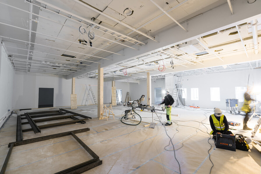 The refurbishment of KODE 1, Bergen's largest art institution, is starting to take shape