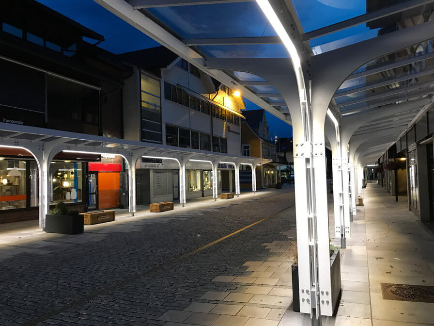 New lights installed in Os town centre