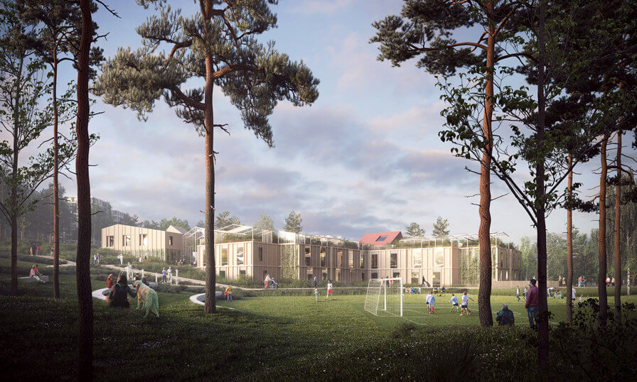 3RW arkiteker and NORD Architects win New Alzheimer Village in Norway