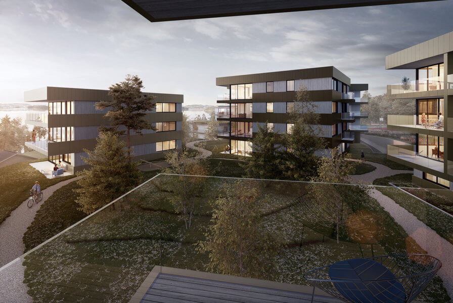 New images released of Skjoldnes residential project