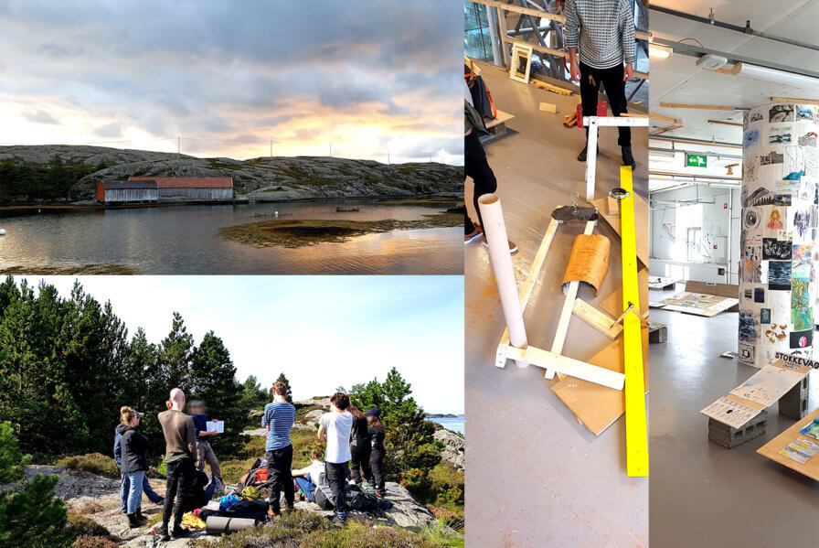 First year students from BAS architecture school are back from one month at Solund island