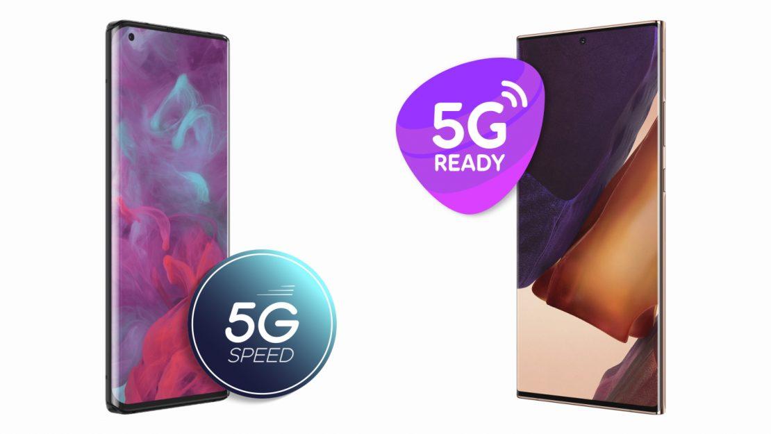 Disse telefoner er klar til 5G (oktober 2020)