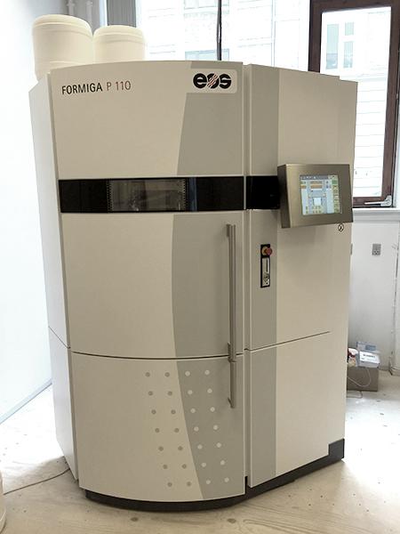 EOS Formiga P110 SLS printer.