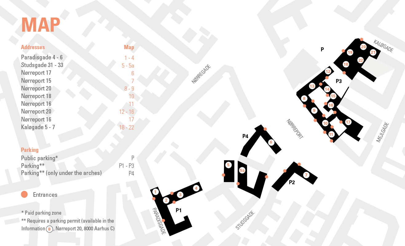 Map Aarhus School of Architecture