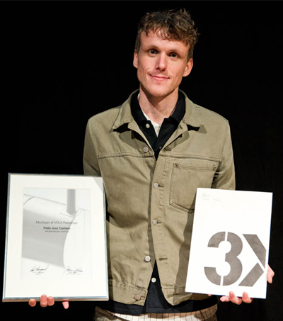 Pelle Juul Carlsen received both a VOLA Award and the 3XN/3xG Prize for his graduation project 'Alternativ til Fredericias Kanalby'.