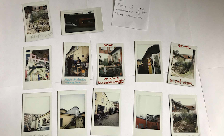 Some of the polaroid images taken during the city walk