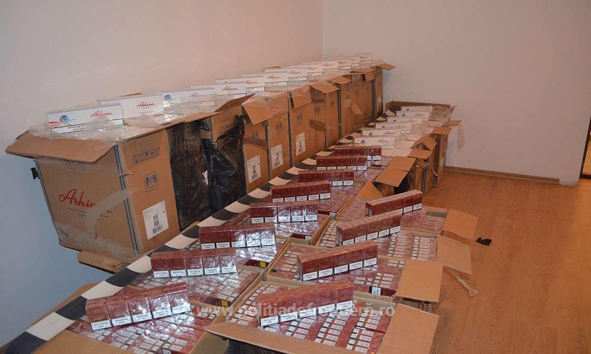Pachetele de tigari au fost confiscate