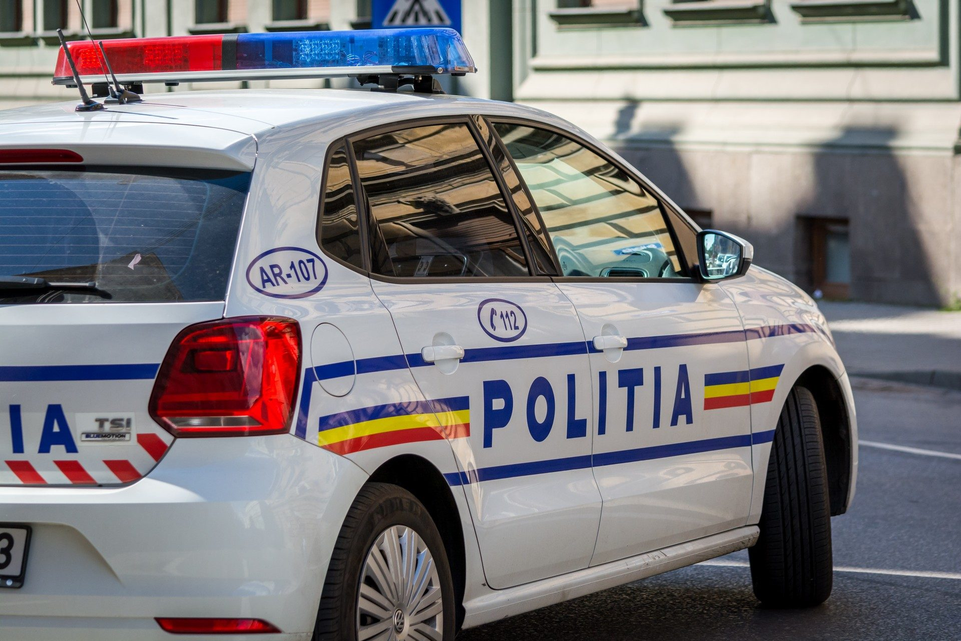 Masina de politie arad accidentelive vw polo.