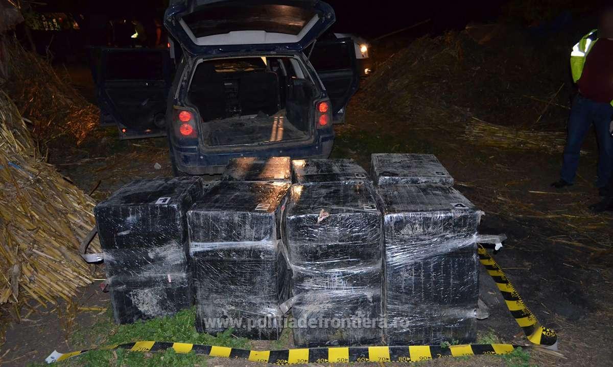 Aproximativ 25.500 pachete cu ţigări, confiscate în urma unor acţiuni la frontiera cu R. Moldova