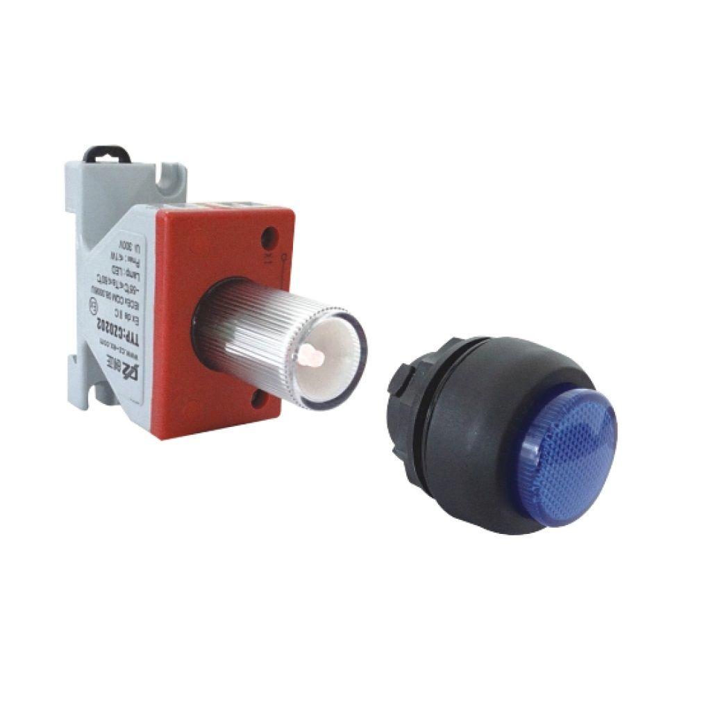 Kurulu ön montaj rayı tipi exproof sinyal lambası bileşeni