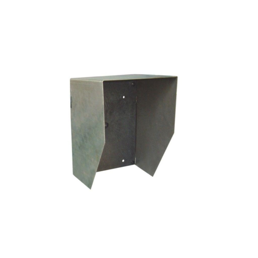 Paslanmaz çelikten rainproof (yağmur geçirmez) kapaklı asılı ve dikey tip montaj plakası