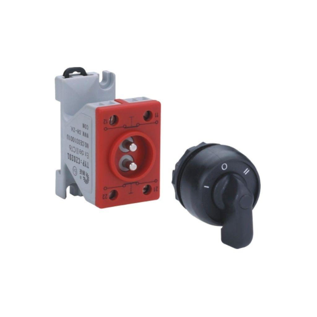 Kurulu ön montaj rayı tipi exproof 2 kutuplu anahtar bileşeni (Küçük el)
