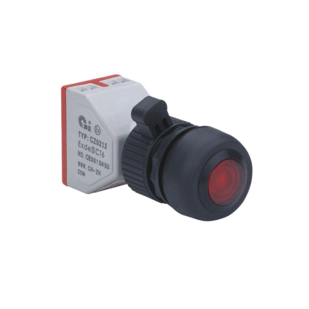 Kurulu arka tipi exproof butonlu sinyal lambası bileşeni