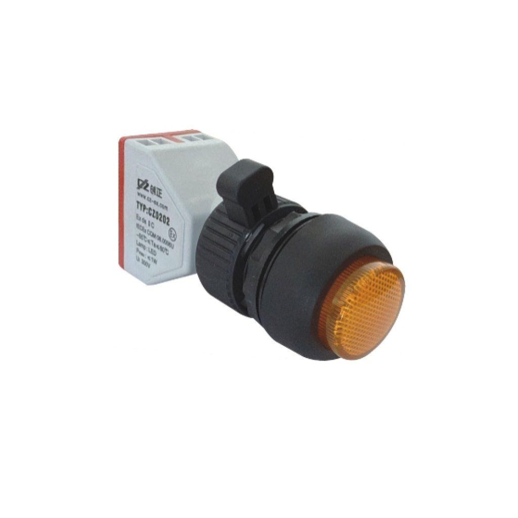 Kurulu arka tipi exproof sinyal lambası bileşeni