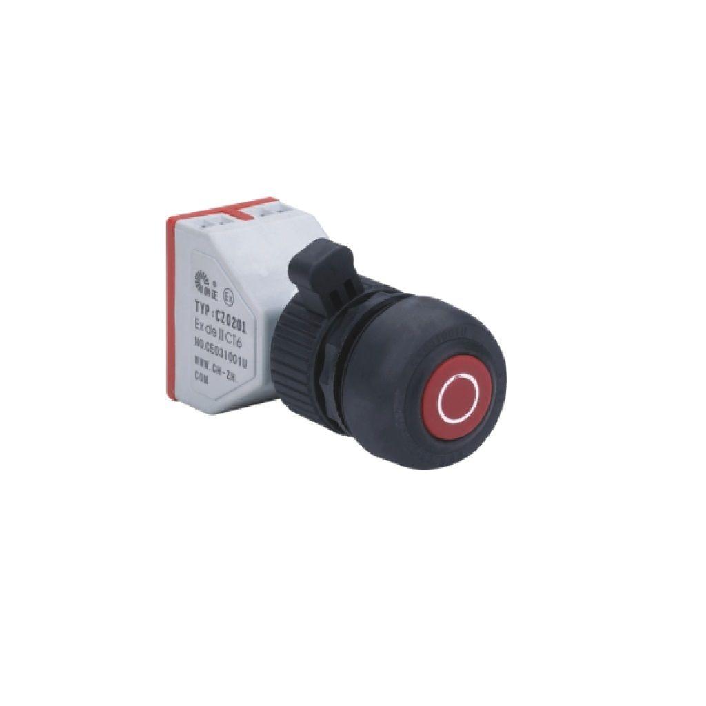 Kurulu arka tip exproof buton bileşeni (kauçuk kaplama buton)
