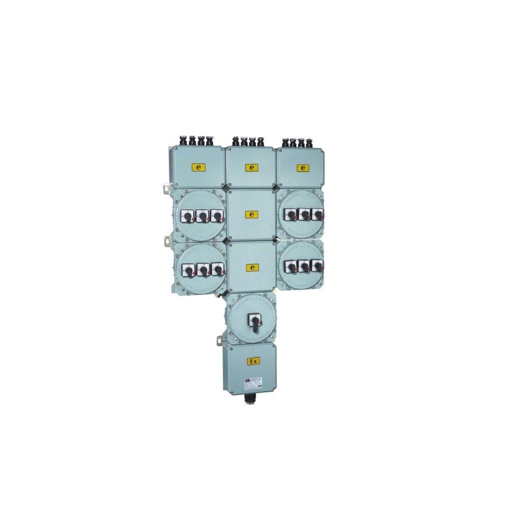 Exproof aydınlatma dağıtım kutuları (elektrik kaçağı koruması ile)