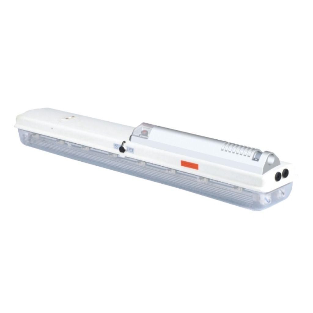 Tamamı plastik exproof acil durum floresan aydınlatma armatürleri (direk montajı)
