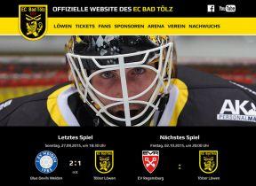 Tölzer Löwen starten mit neuer Website in die Saison 2015/16