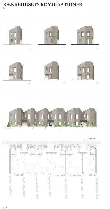 Rækkehusets facade og kombinationer