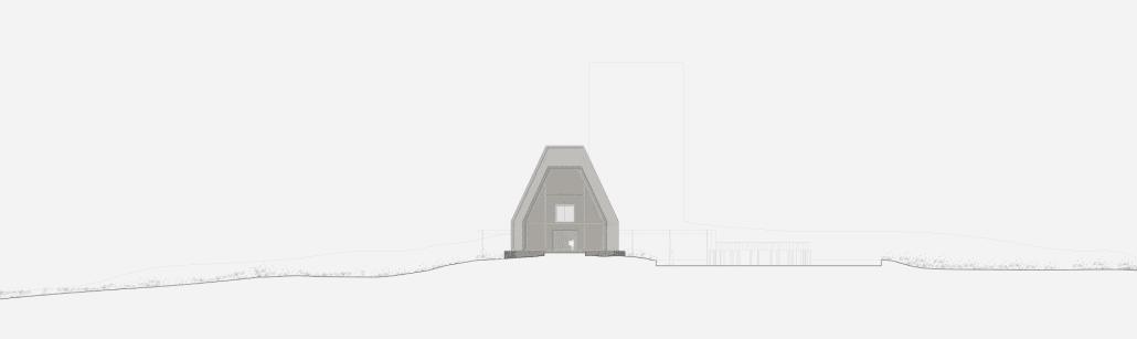 Paper house gable 1:100