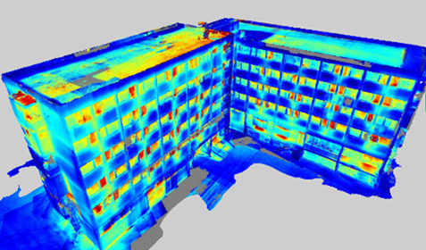 Modèle 3D thermique d'un bâtiment tertiaire