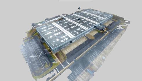 Visite virtuelle entrepôt réalisée par drone