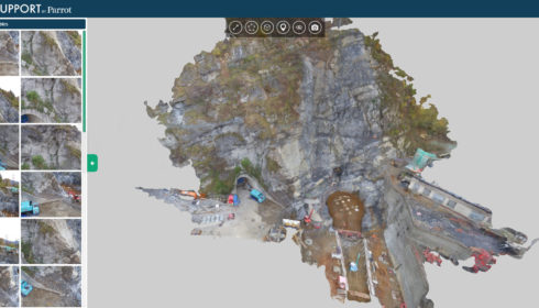 Inspection par drone et cubature d'une falaise