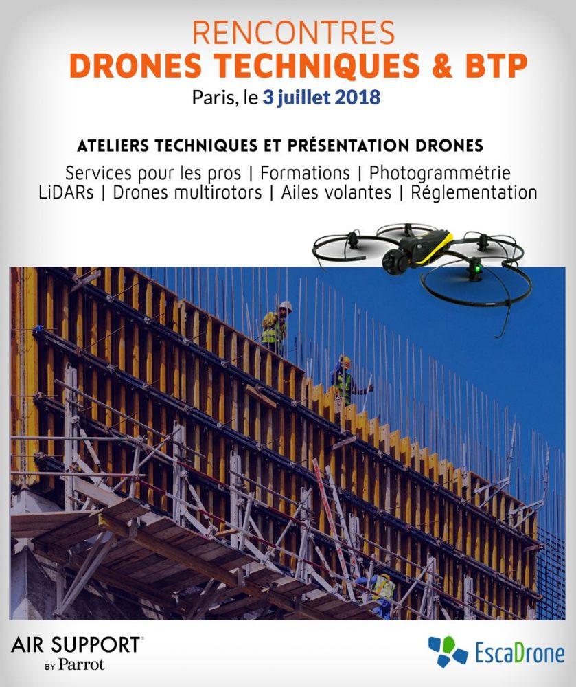 Evénement Drone pour les professionnels et le BTP